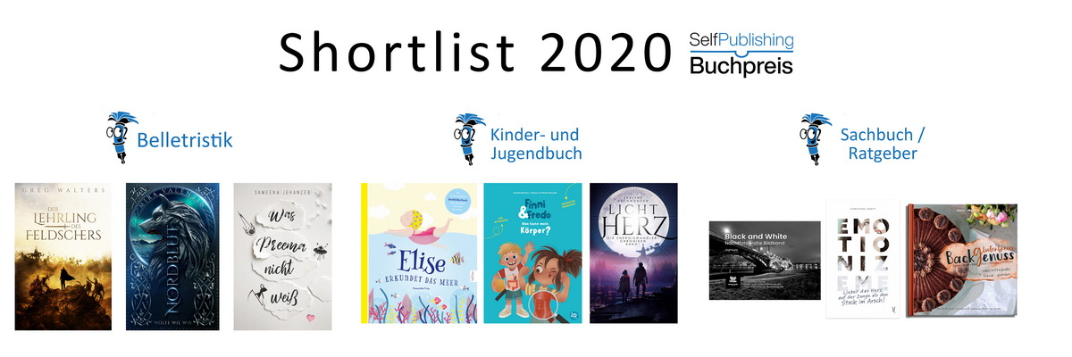 Shortlist Selfpublishing-Buchpreis